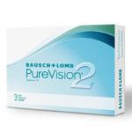 BAUSCH-LOMB PureVision2HD 3 pack μηνιαίοι σιλικόνης-υδρογέλης Μυωπίας-Υπερμετρωπίας