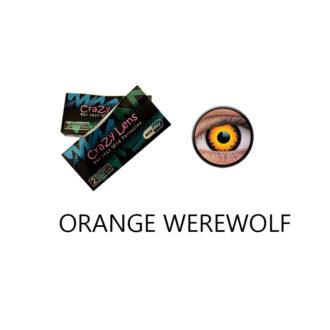 Crazy Lens ColourVUE® Orange Werewolf 2 pack