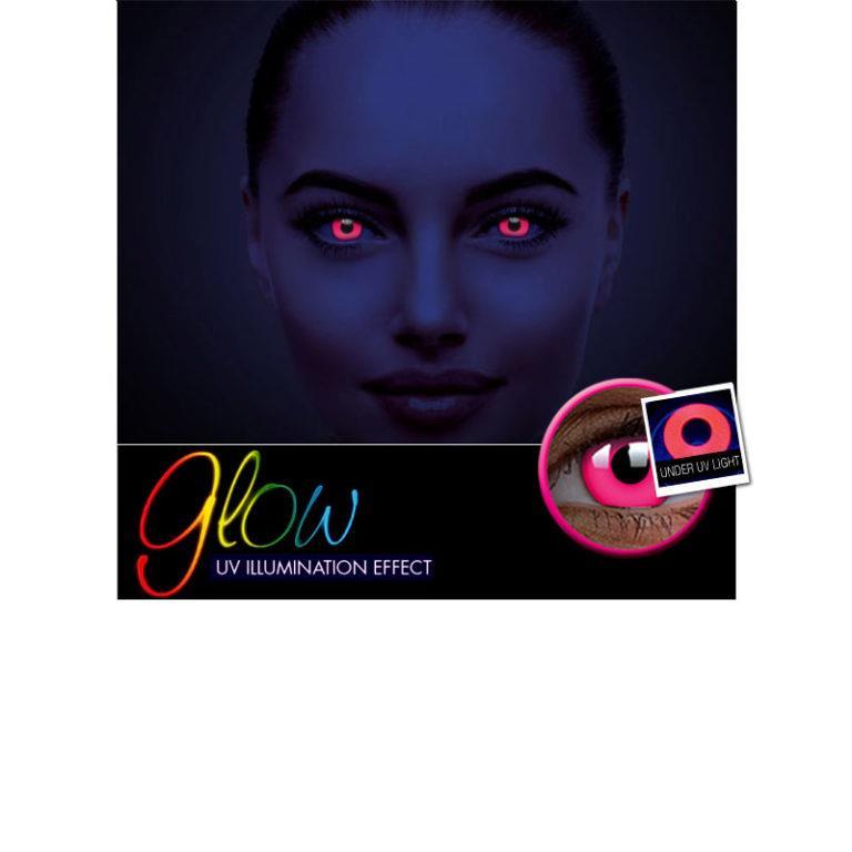 Αποκριάτικοι Ημερήσιοι Φακοί Επαφής Crazy Lens ColourVUE® Glow Pink