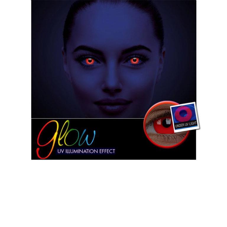 Αποκριάτικοι Ημερήσιοι Φακοί Επαφής Crazy Lens ColourVUE® Glow Red