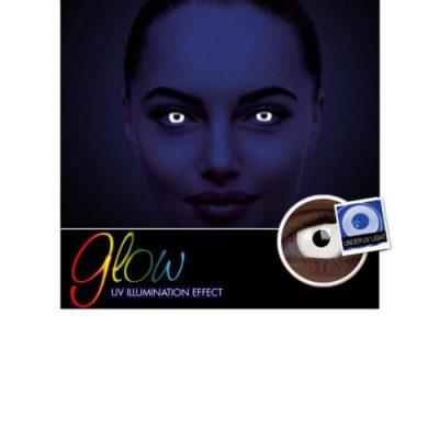 Αποκριάτικοι Ημερήσιοι Φακοί Επαφής Crazy Lens ColourVUE® Glow White