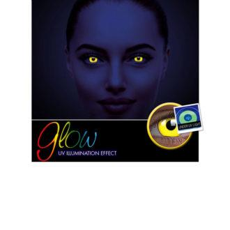 Crazy Lens ColourVUE® Glow Yellow 2 pack